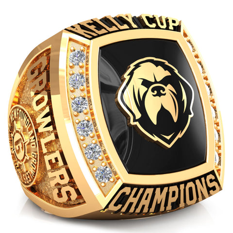 Newfoundland Growlers - Premium Championship Fan Ring (with Custom Stone)- Design 5.1