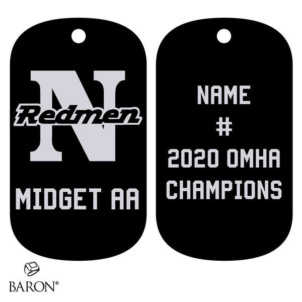 Newmarket Redmen Dog Tags