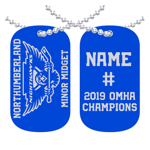 Northumberland nighthawks - minor midget - OMHA Dog Tags