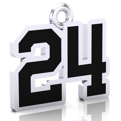 Douro Dukes OMHA Number Charm (8mm x 10mm (per character)) (OMHA Example)