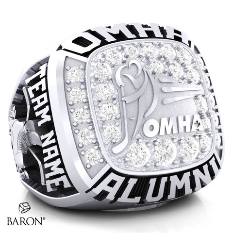Championship OMHA  Ring with Cubics - Design 2.1  (ALUMNI)