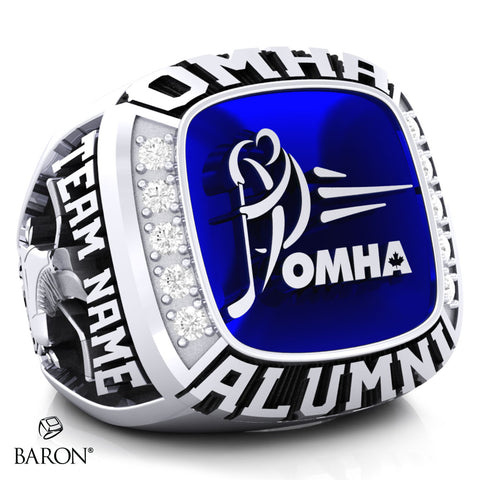 Championship OMHA  Ring with Glass Enamel - Design  2.2 (ALUMNI)