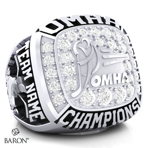Championship OMHA  Ring with Cubics - Design 1.7 (Champions)