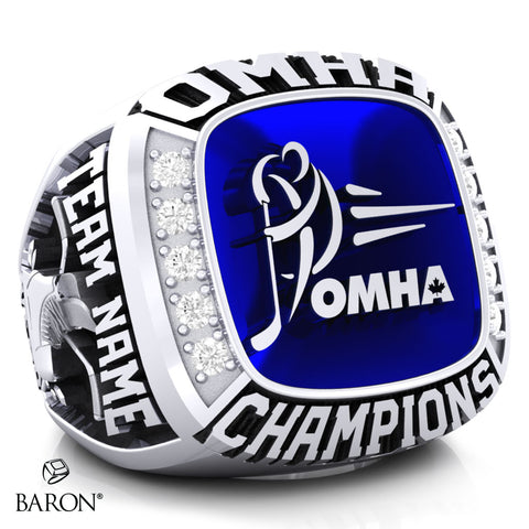Championship OMHA  Ring with Glass Enamel - Design 1.8 (Champions)