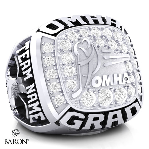 Championship OMHA Ring with Cubics - Design 3.1 (GRAD)