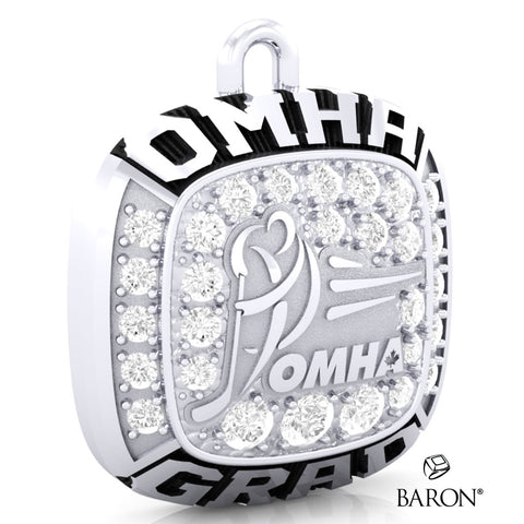 Championship OMHA Ring Top Pendant with Cubics - Design 3.3 (GRAD)