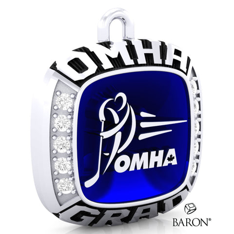 Championship OMHA  Ring Top Pendant with Glass Enamel - Design 3.4 (GRAD)