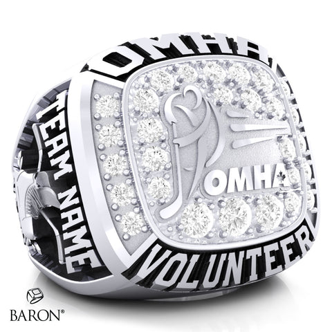Championship OMHA Ring with Cubics - Design 4.1 (VOLUNTEER)