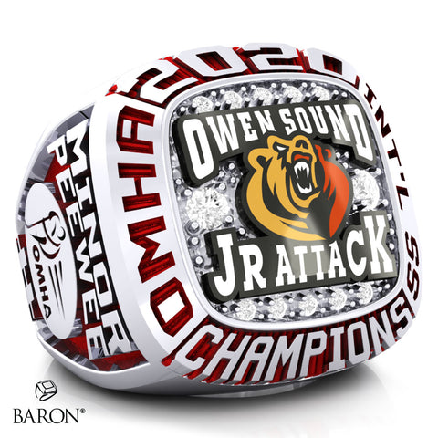 Owen Sound Jr Attack Championship Ring - Design 3.7 (LG)