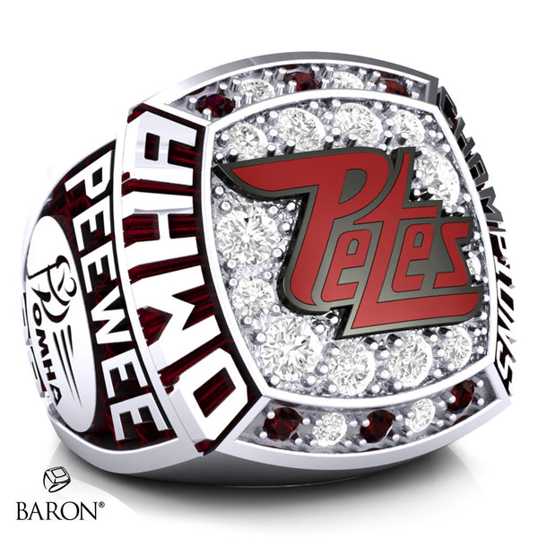 Peterborough Petes Peewee AA Championship Ring - Design 1.1