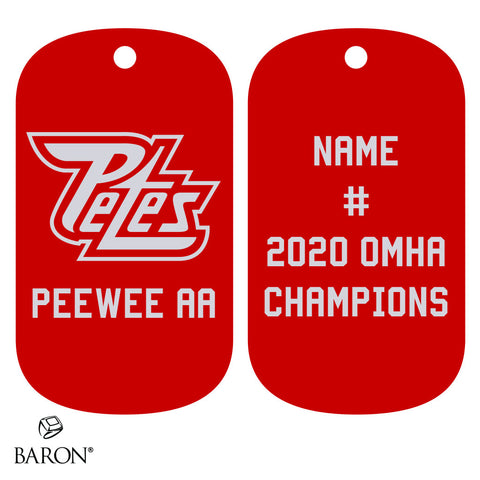 Peterborough Petes Peewee AA Dog Tags