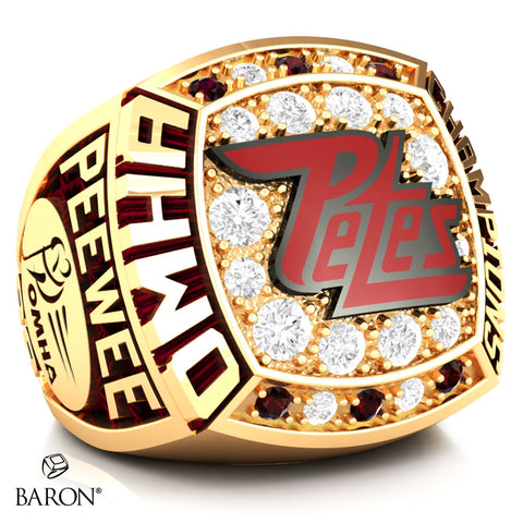 Peterborough Petes Peewee AA Championship Ring - Design 1.2