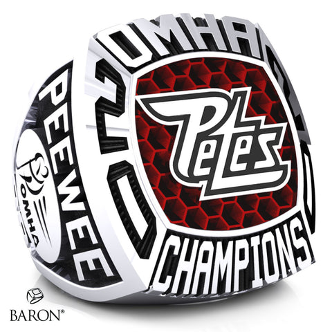 Peterborough Petes Peewee AA Championship Ring - Design 2.1