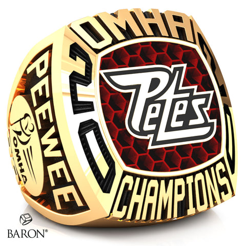 Peterborough Petes Peewee AA Championship Ring - Design 2.2