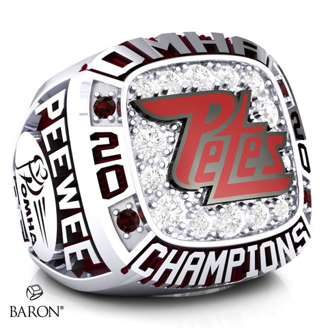 Peterborough Petes Pee Wee AE Championship Ring - Design 1.1
