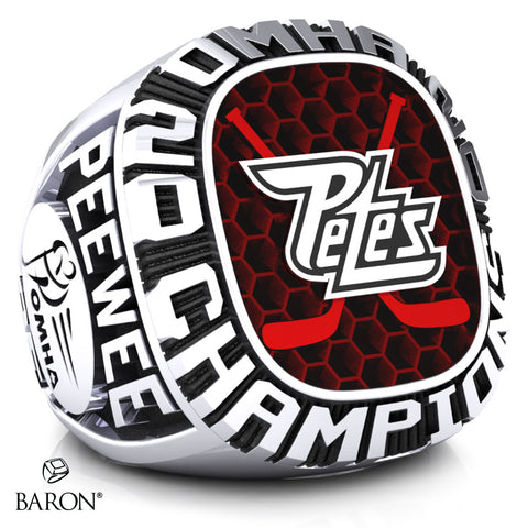 Peterborough Petes Pee Wee AE Championship Ring - Design 2.1