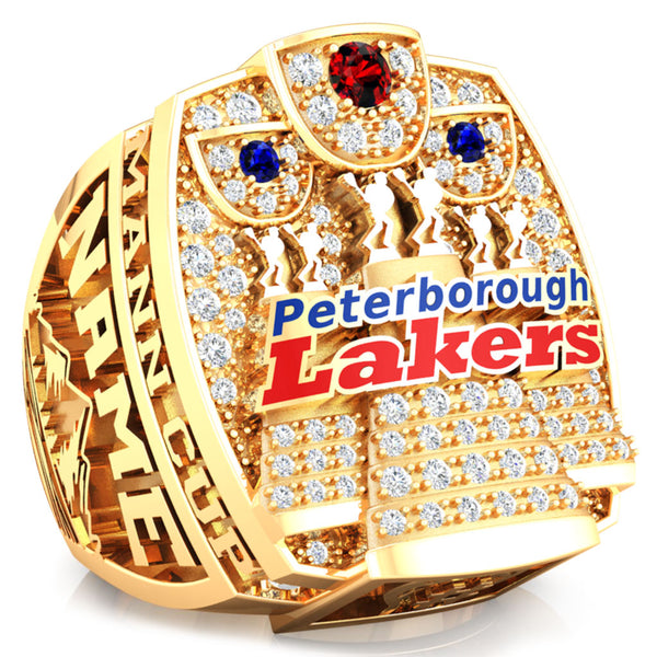 Peterborough Lakers - Mann Cup - CLA Ring - Design 6.3 (Gold Durilium/ 6kt gold/ 10kt gold)