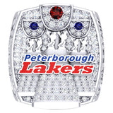 Peterborough Lakers - Mann Cup - CLA Ring - Design 6.4 (Durilium/ Silver/ 6kt gold/ 10kt gold)