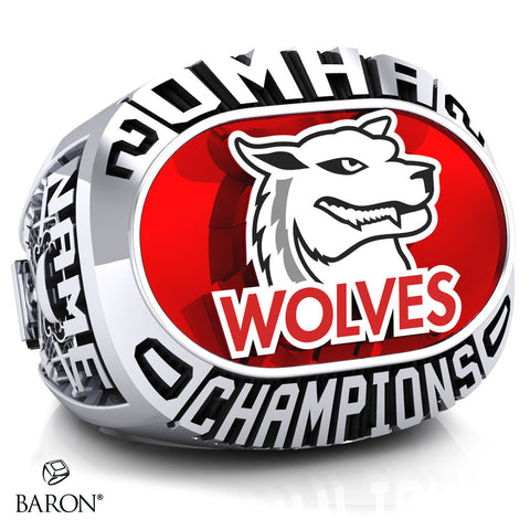 Shelburne Wolves Peewee AE Championship Ring - Design 1.2
