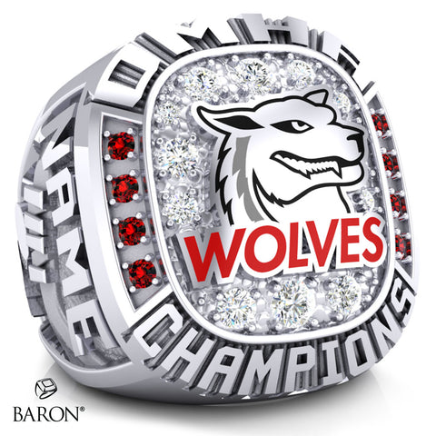 Shelburne Wolves Peewee AE Championship Ring - Design 2.1