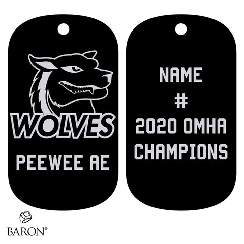 Shelburne Wolves Peewee AE Dog Tags