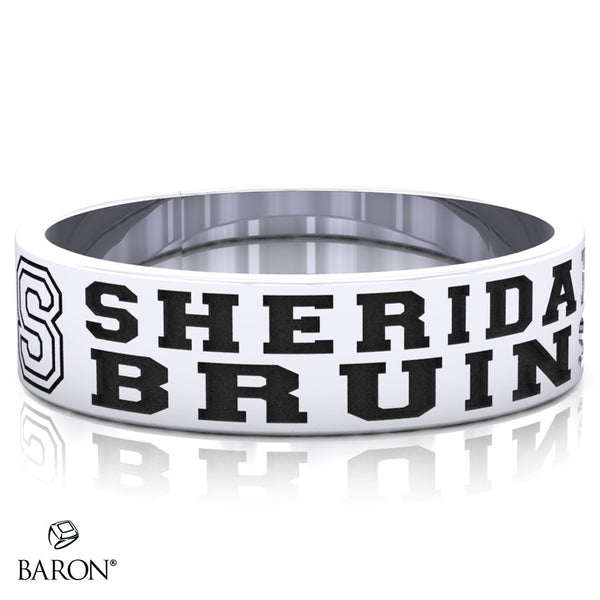 Sheridan College Class Ring (Durilium, Sterling Silver, 10KT White Gold) - Design 10.1