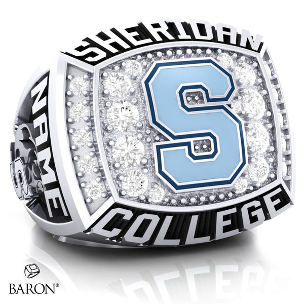 SHERIDAN COLLEGE VARSITY RING (Durilium/ Silver/ 10kt White Gold) - Design 1.1