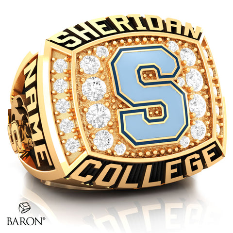 SHERIDAN COLLEGE VARSITY RING (Gold Durilium/ 10kt Yellow Gold) - Design 1.2