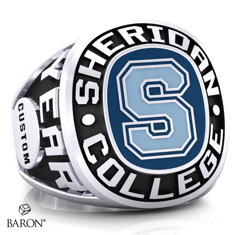 SHERIDAN COLLEGE VARSITY RING (Durilium/Silver/10Kt White Gold) - Design 2.1