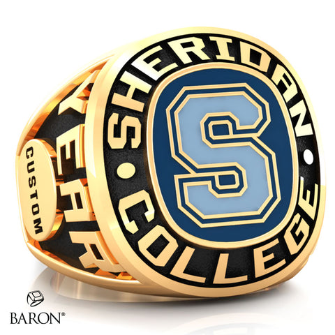 Sheridan College Athletic Ring (Gold Durilium/ 10kt Yellow gold) - Design 2.2