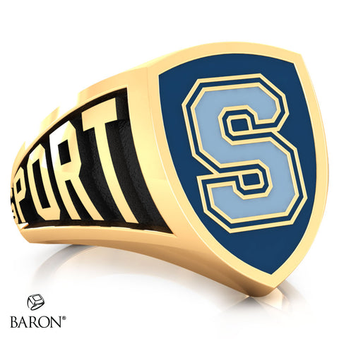 Sheridan College Athletic Shield Class Ring (Gold Durilium, 10kt Yellow Gold) - Design 3.2