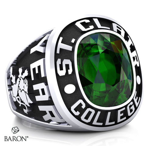 St. Clair College Exclusive Class Ring (Large) (Durilium/Silver/ 10kt White Gold)