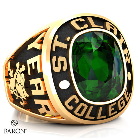 St. Clair College Exclusive Class Ring (Large) (Gold Durilium/10kt Yellow Gold)
