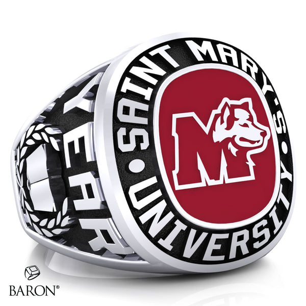 St. Mary's Huskies Exclusive Class Ring (Durilium/Silver/10Kt White Gold) - Design 1.1