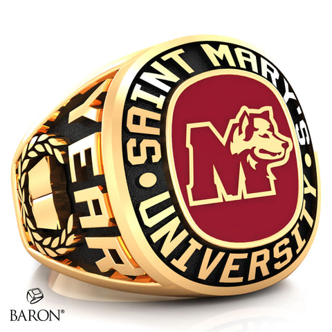 St. Mary's Huskies Exclusive Class Ring (Gold/10Kt Yellow Gold) - Design 1.2