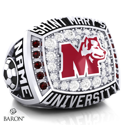 St. Mary's Huskies Athletic Ring - 800 Series (Durilium/ Silver/ 10kt White gold) - Design 2.1