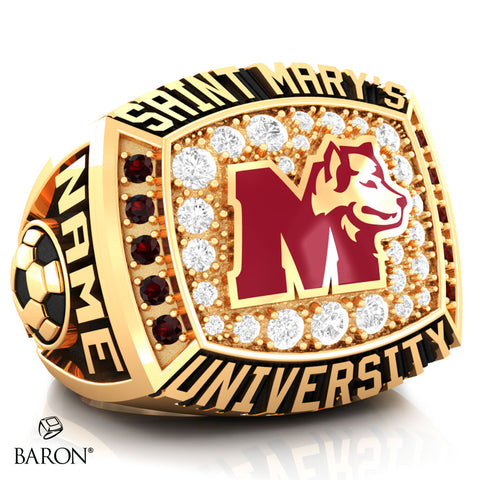 St. Mary's Huskies Athletic Ring (Gold Durilium/ 10kt Yellow gold) - Design 2.2