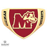 St. Mary's Huskies Crest Shield Signet Class Ring (Gold Durilium, 10kt Yellow Gold) - Design 4.2