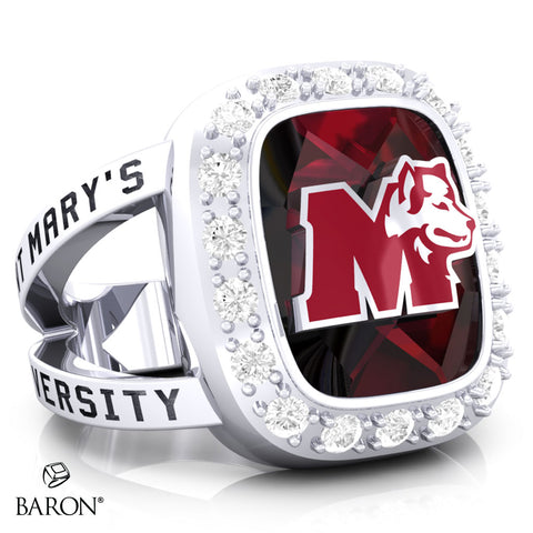 St. Mary's Huskies Renown Class Ring (Durlium, Sterling Silver, 10kt White Gold) - Design 5.1