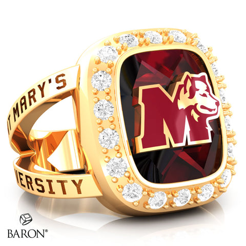 St. Mary's Huskies Renown Class Ring (Gold Durilium, 10kt Yellow Gold) - Design 5.2