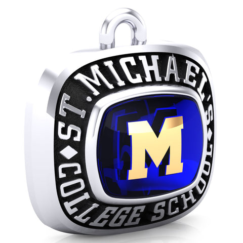 St. Michael's College School - Ring Top Pendant (Encrusted)