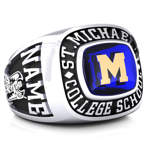 St. Michael's College School - Classic Style Ring (Encrusted)