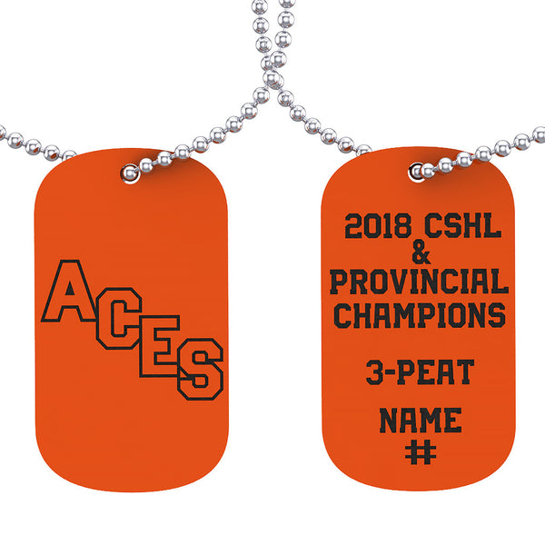 Ste. Anne Aces Dog Tag - Design 1.2