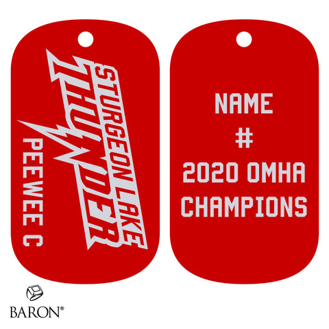 Sturgeon Lake Thunder- Peewee C Dog Tags