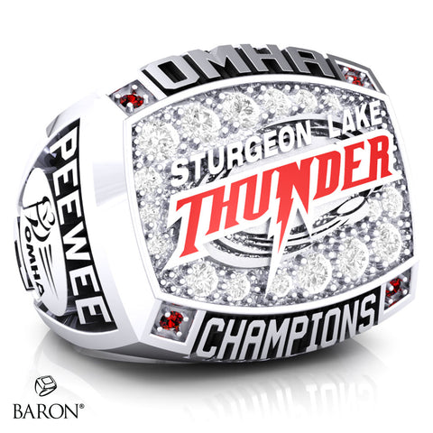 Sturgeon Lake Thunder- Peewee C Championship Ring - Design 1.1