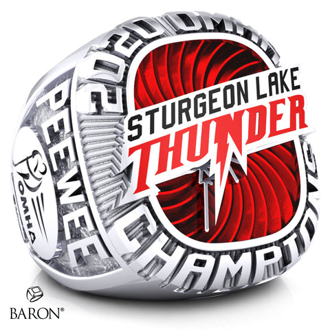 Sturgeon Lake Thunder- Peewee C Championship Ring - Design 2.1