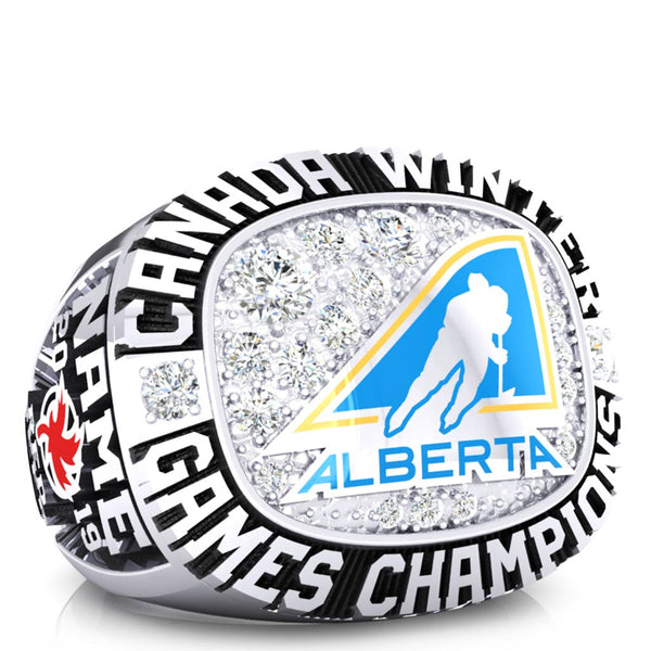 Team Alberta - Girls Hockey Ring - Design 1.4