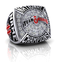 Team Ontario Lacrosse National Champions Ring - Design 1