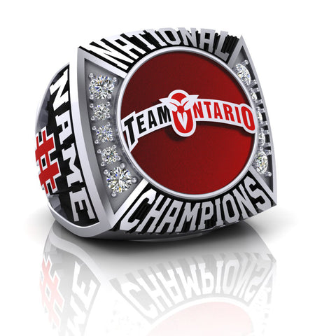 Team Ontario Lacrosse National Champions Ring - Design 2.1