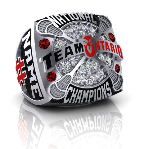 Team Ontario Lacrosse National Champions Ring - Design 3.1